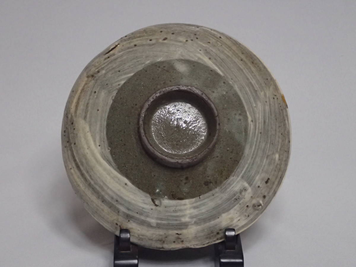 李朝時代 三島手 刷毛目 茶碗 茶道具 朝鮮古陶磁 茶器/平茶碗/夏茶碗_画像2