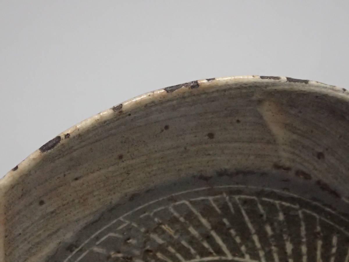 李朝時代 三島手 刷毛目 茶碗 茶道具 朝鮮古陶磁 茶器/平茶碗/夏茶碗_画像8