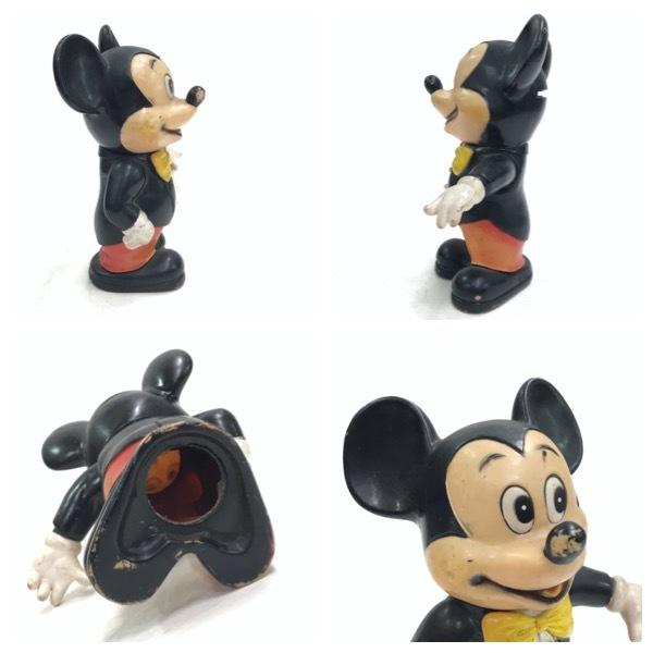 ミッキーマウス バンク 貯金箱 ドール 人形 オールドディズニー ビンテージ Mickey Mouse Disney おもちゃ レトロ アンティーク D-256_画像4