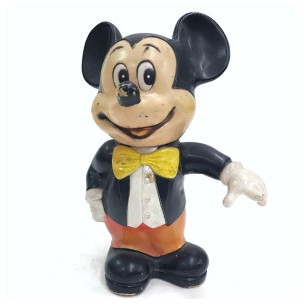 ミッキーマウス バンク 貯金箱 ドール 人形 オールドディズニー ビンテージ Mickey Mouse Disney おもちゃ レトロ アンティーク D-256_画像1