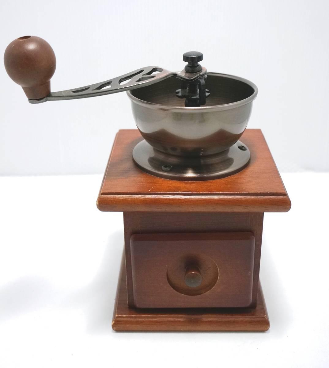 木製 手動式 コーヒーミル 手回し スタンダード_画像1