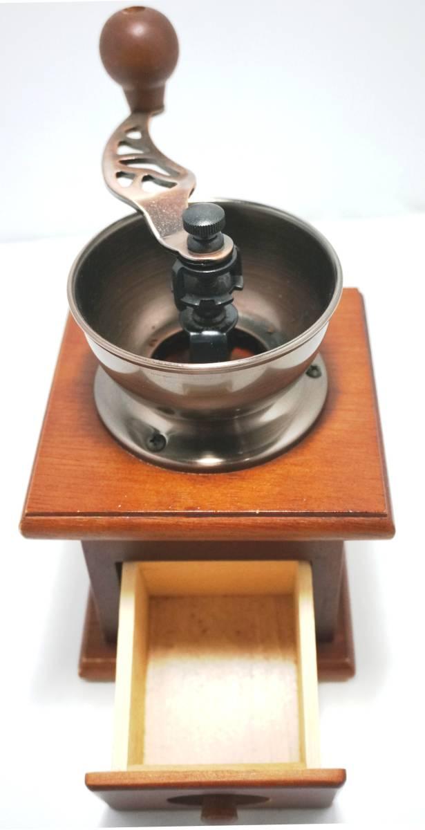 木製 手動式 コーヒーミル 手回し スタンダード_画像2