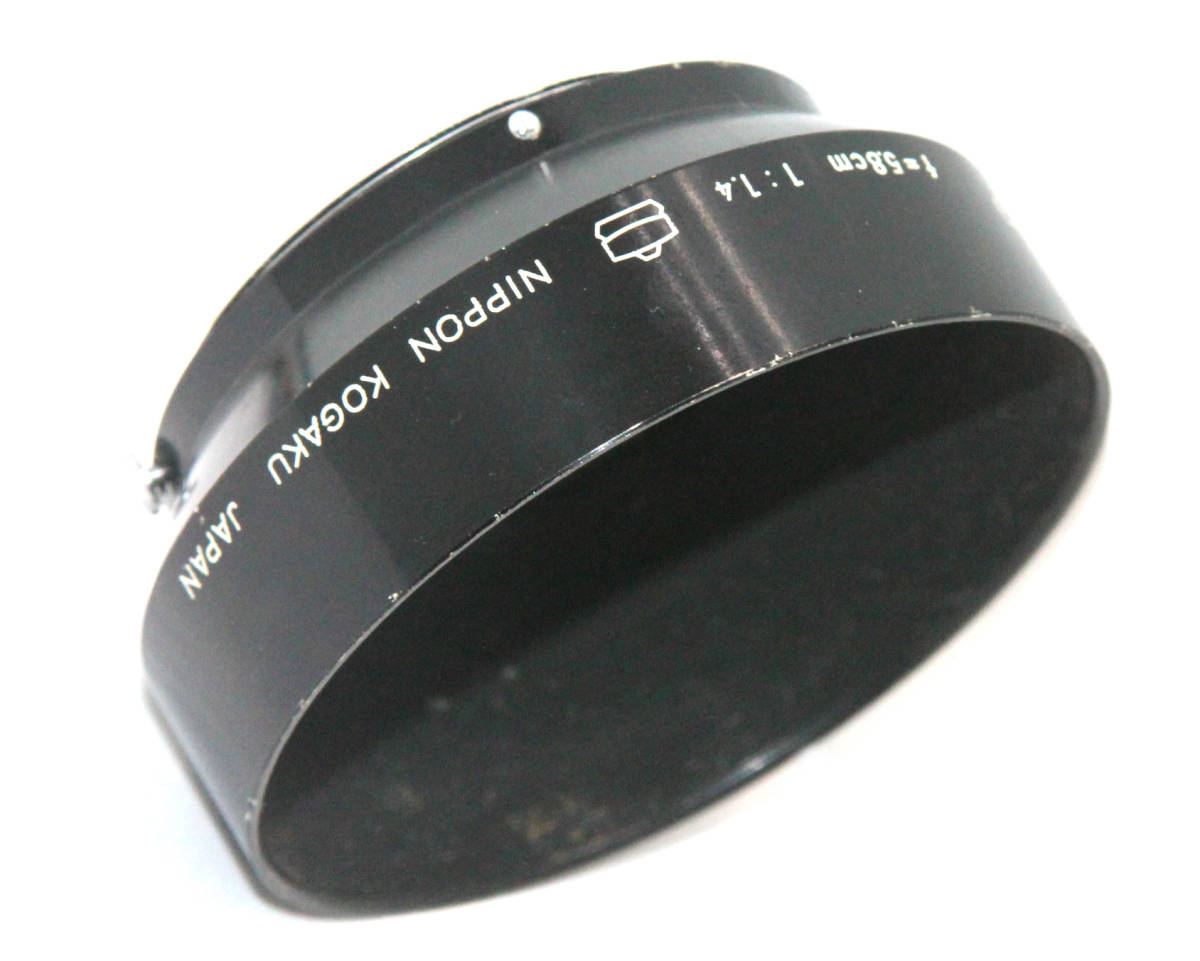 希少 珍品 最初期 日本光学マーク付 オートニッコール 5.8cm F1.4用フード拍卖