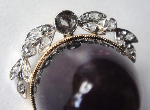 【最終処分】272-hachi アンティーク 年代物 天然 本物 アメジスト ダイヤ パール 真珠 チャーム ペンダントトップ 1円_画像4