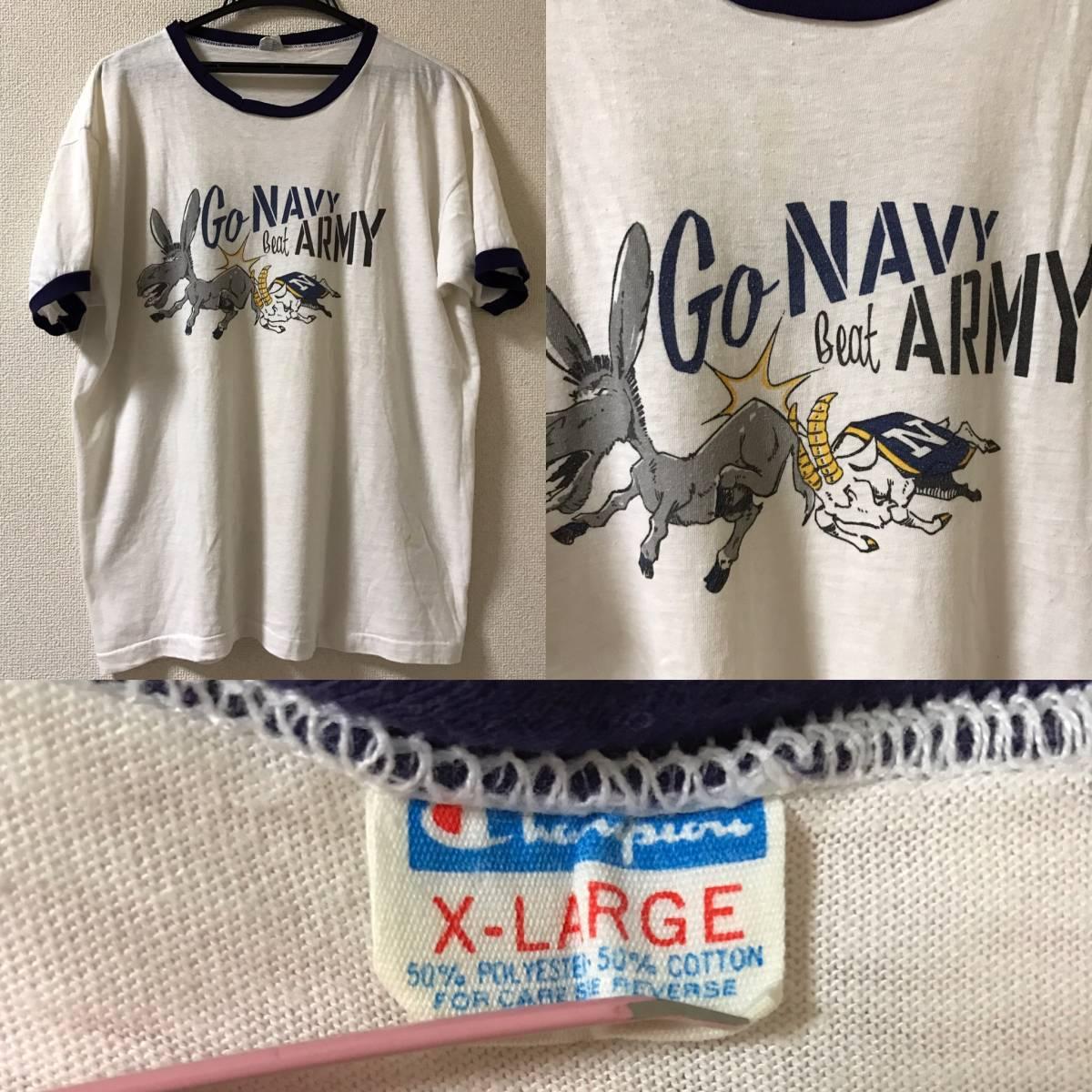 champion ビンテージ 染み込み チャンピオン バータグ トリコタグ リバース army navy usmc air force 米軍 ミリタリー Tシャツ 88 12