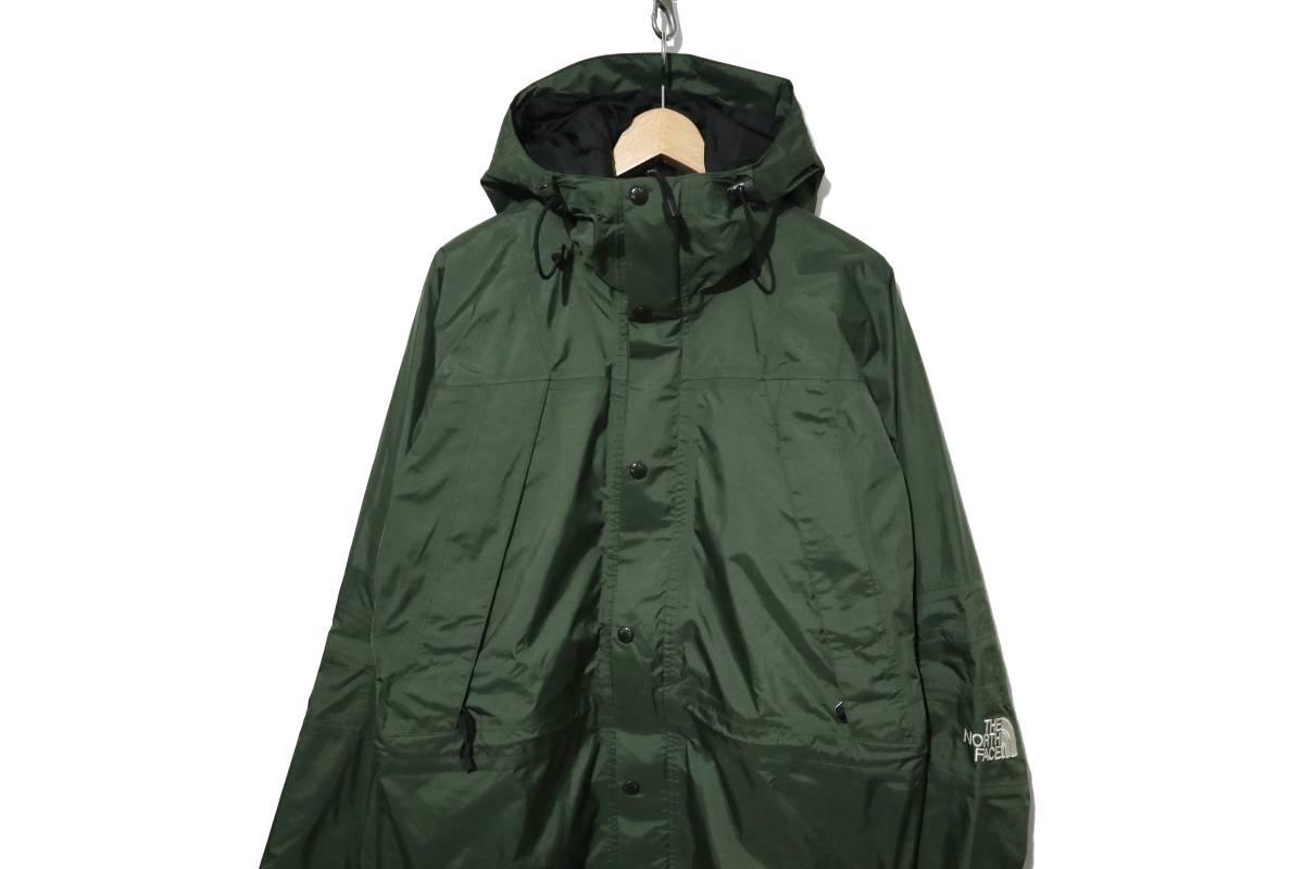 00's ビンテージ the north face gore-tex mountain light jacket カーキ 単色 ノースフェイス ゴアテックス マウンテンライト ジャケット