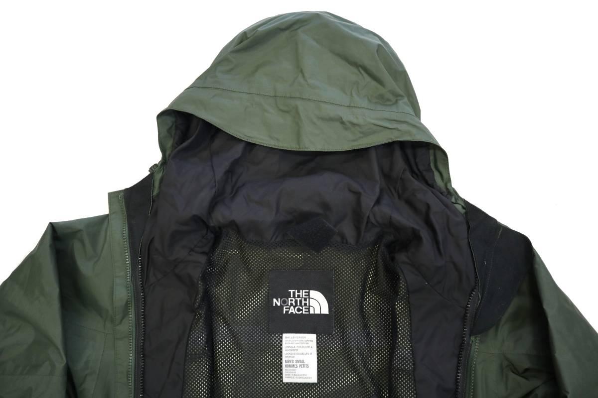 00's ビンテージ the north face gore-tex mountain light jacket カーキ 単色 ノースフェイス ゴアテックス マウンテンライト ジャケット_画像5