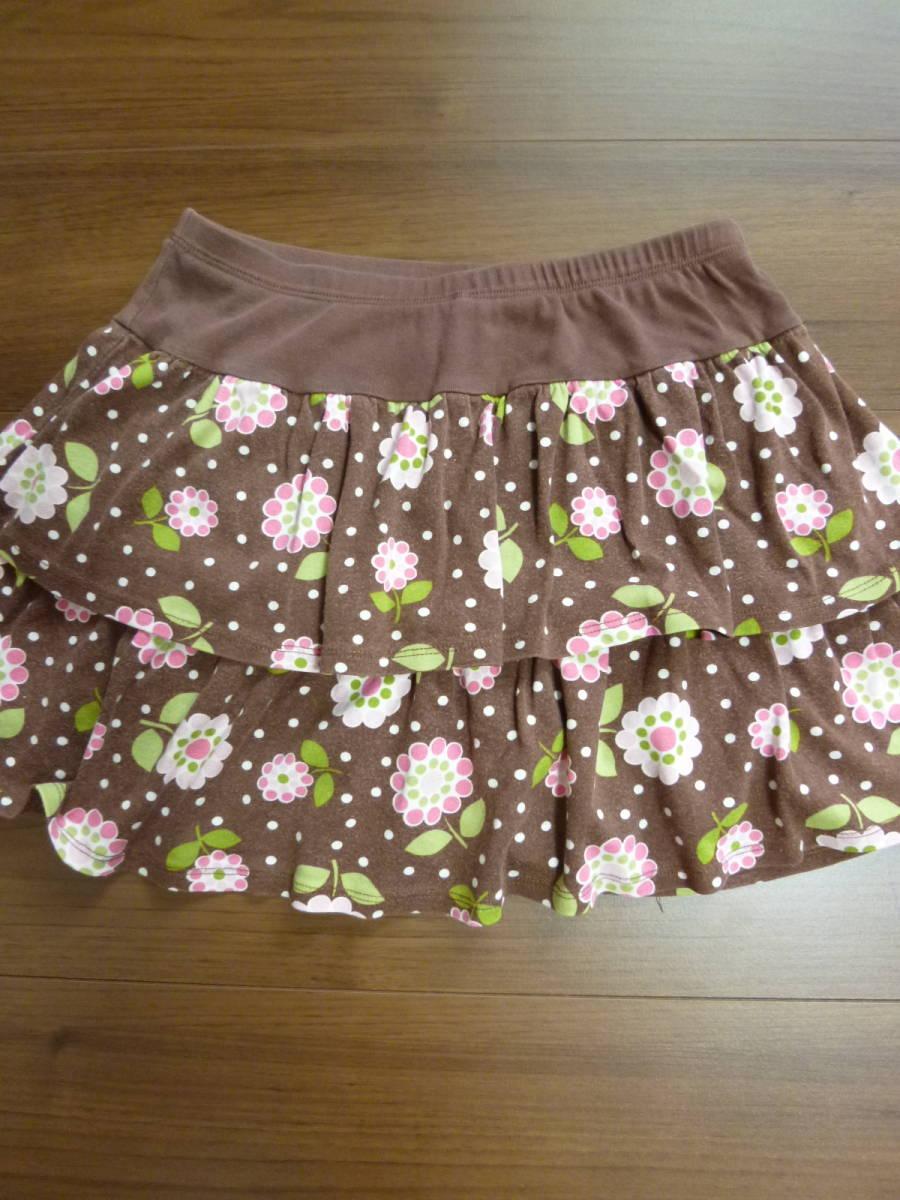 Gymboreeジンボリー★10T 10歳 茶色 花柄スカート130140 _画像5
