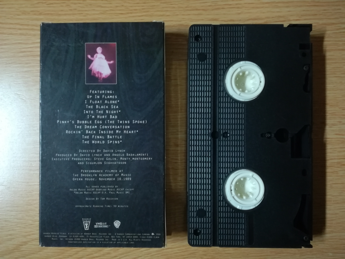 【VHS】David Lynch/Angelo Badalamenti/Julee Cruise - Industrial Symphony No. 1:The Dream Of The Broken Hearted 1990年_画像2