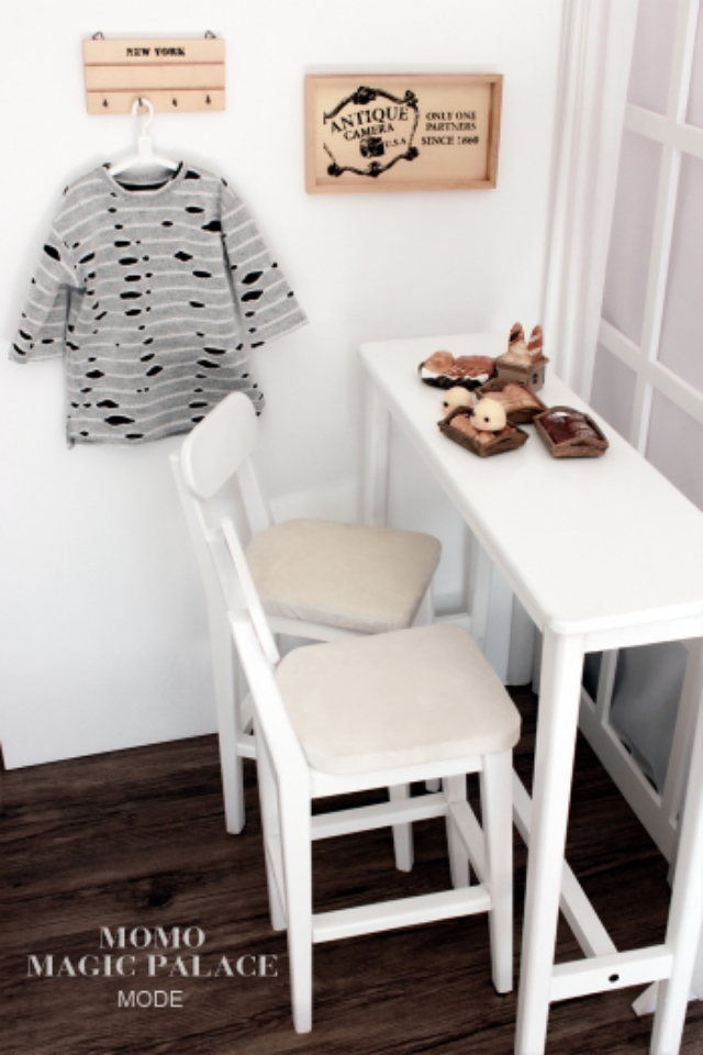 新品 BJD用家具セット 全4色 椅子と机 ドール用 doll 球体関節人形用 70cm/DD/SDサイズ通用 撮影 DY-003_画像2