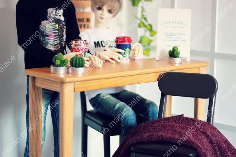 新品 BJD用家具セット 全4色 椅子と机 ドール用 doll 球体関節人形用 70cm/DD/SDサイズ通用 撮影 DY-003_画像7