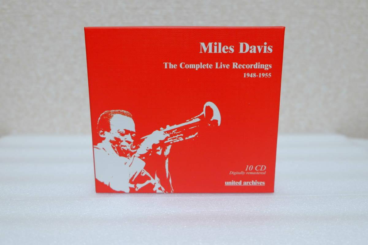 ■輸入盤・廃盤■マイルス・デイビス The Complete Live Recordings 1948-1955 10CD◆美品◆_外箱オモテ面