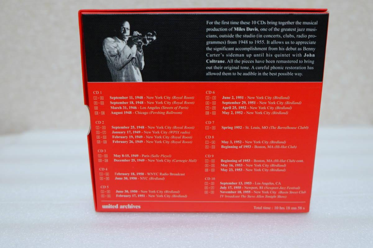 ■輸入盤・廃盤■マイルス・デイビス The Complete Live Recordings 1948-1955 10CD◆美品◆_外箱ウラ面