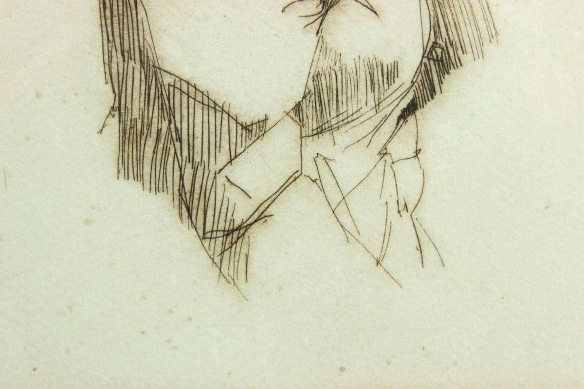◆櫟◆ 真作保証 小磯良平 「婦人」 銅版画 111/120 直筆サイン T[E23]PV/10KB_画像6