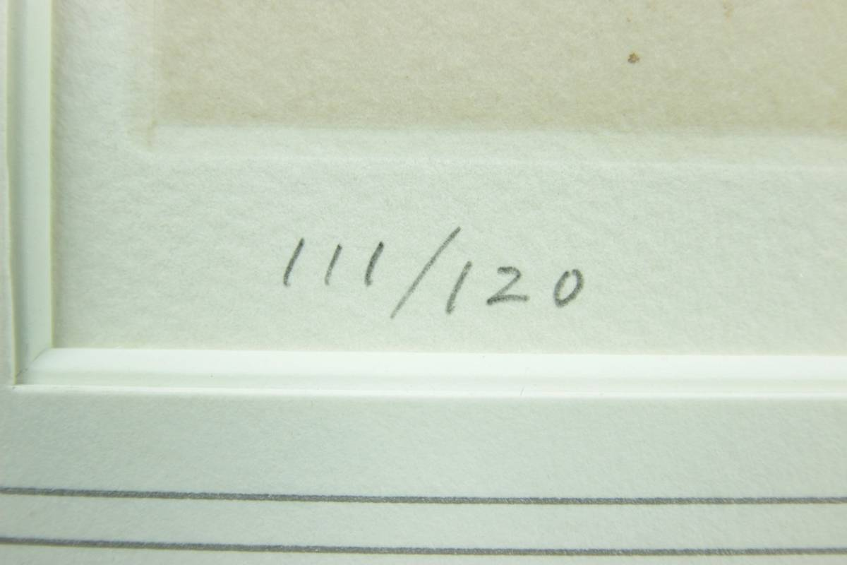 ◆櫟◆ 真作保証 小磯良平 「婦人」 銅版画 111/120 直筆サイン T[E23]PV/10KB_画像7