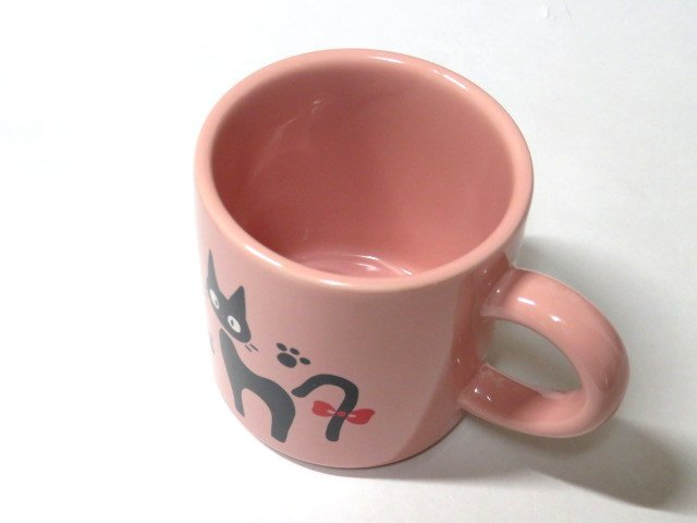 (ZAK) ジブリ 限定 魔女の宅急便 ジジのマグカップ ピンク_画像3