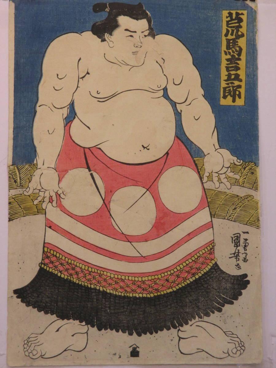 国芳 相撲絵 「荒馬吉五郎」