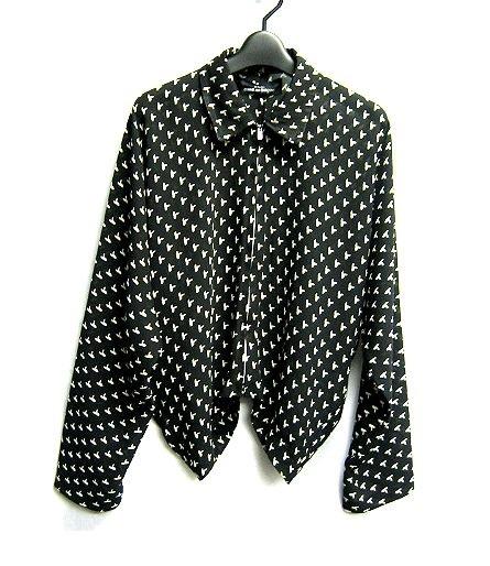 tricot COMME des GARCONS AD1994 トリコ コムデギャルソン 裾変形デザインのドルマンスリーブ 薄手ブルゾン ジャケット_画像1