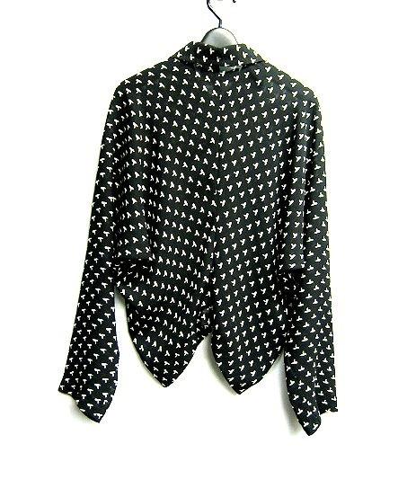 tricot COMME des GARCONS AD1994 トリコ コムデギャルソン 裾変形デザインのドルマンスリーブ 薄手ブルゾン ジャケット_画像2