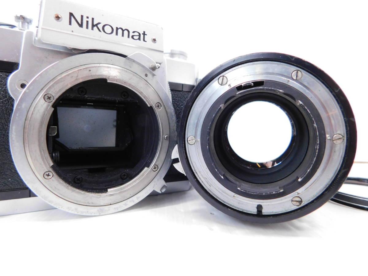 NIKON ニコン/一眼レフカメラ/ボディ Nikomat FT2/単焦点レンズ NIKKOR-Q Auto 135mm F2.8/取説付属!!/MF ニコマート/管A1003_画像2