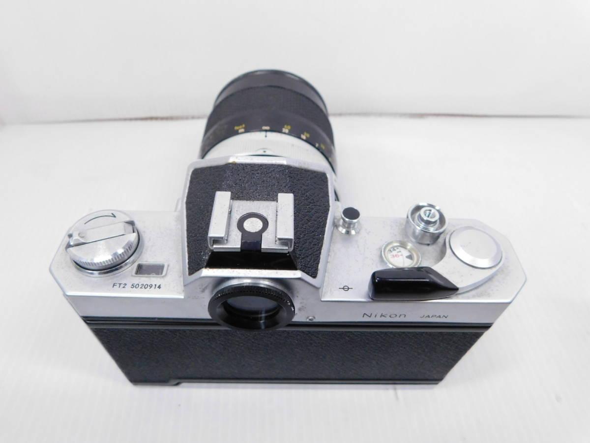 NIKON ニコン/一眼レフカメラ/ボディ Nikomat FT2/単焦点レンズ NIKKOR-Q Auto 135mm F2.8/取説付属!!/MF ニコマート/管A1003_画像6