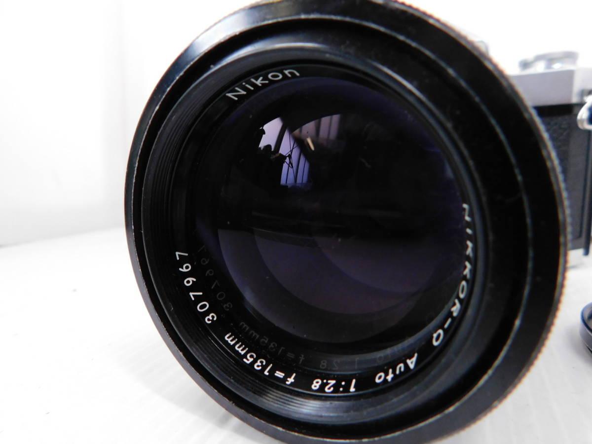 NIKON ニコン/一眼レフカメラ/ボディ Nikomat FT2/単焦点レンズ NIKKOR-Q Auto 135mm F2.8/取説付属!!/MF ニコマート/管A1003_画像5