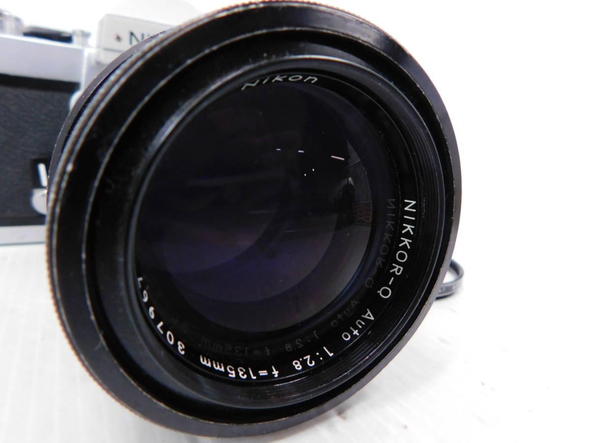 NIKON ニコン/一眼レフカメラ/ボディ Nikomat FT2/単焦点レンズ NIKKOR-Q Auto 135mm F2.8/取説付属!!/MF ニコマート/管A1003_画像4