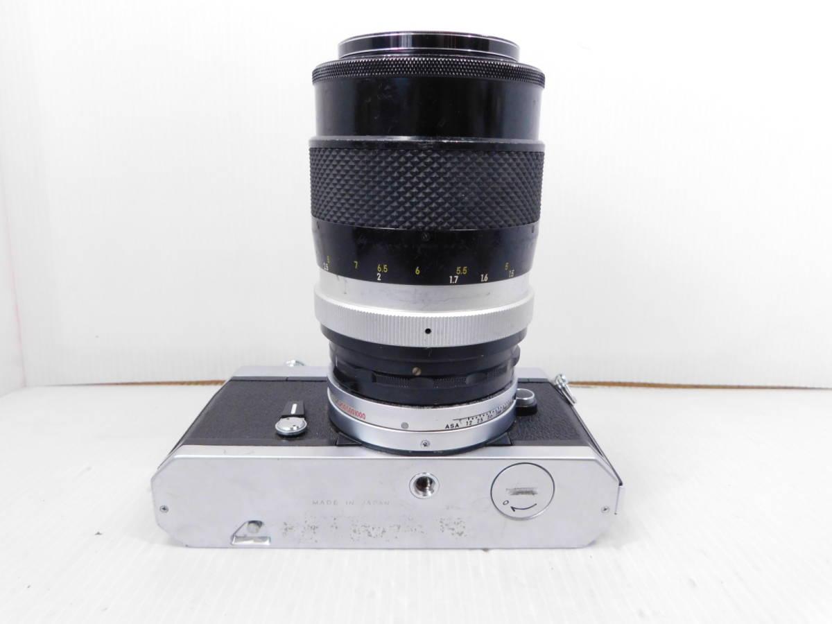 NIKON ニコン/一眼レフカメラ/ボディ Nikomat FT2/単焦点レンズ NIKKOR-Q Auto 135mm F2.8/取説付属!!/MF ニコマート/管A1003_画像9