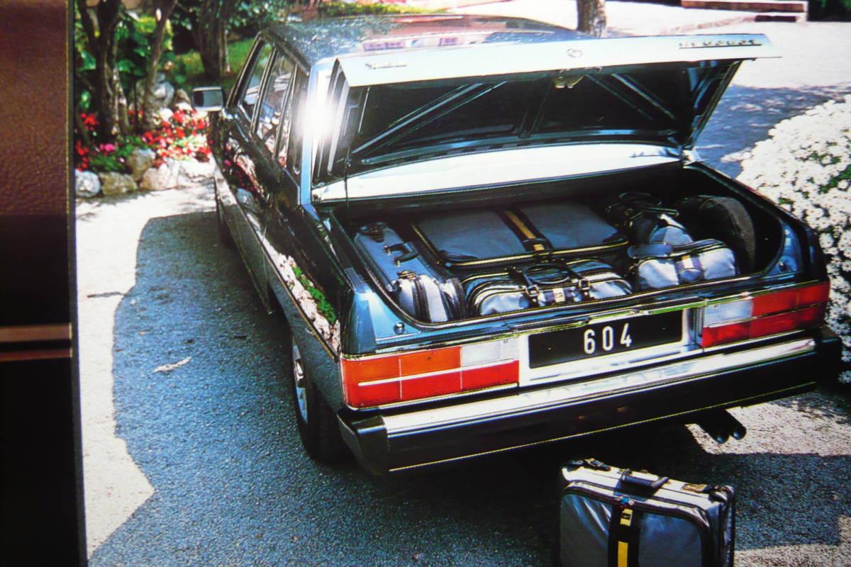 '75 プジョー604 V6 SL/本カタログ・1975-76 西武自動車販売/編集・発行_画像6
