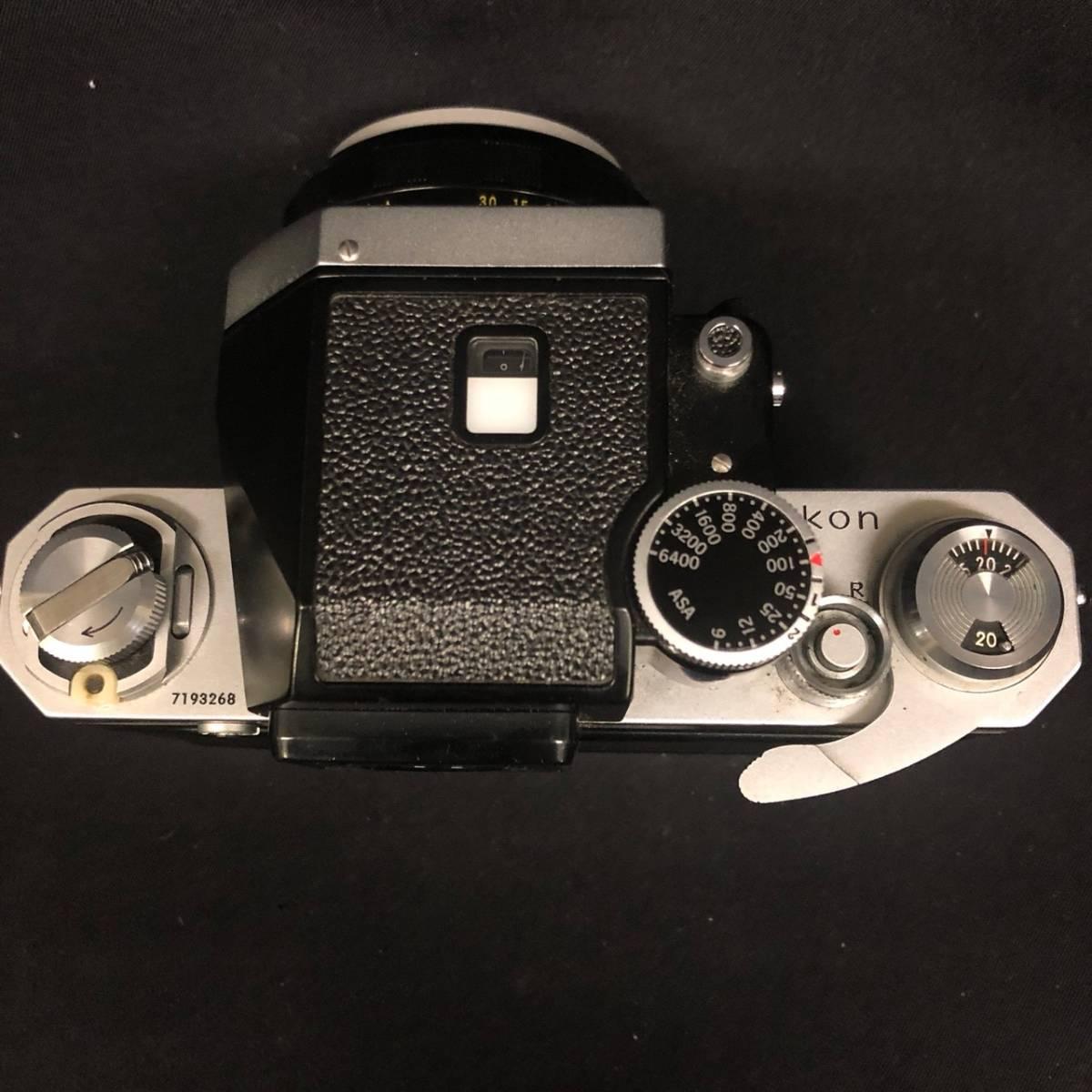 C20A01A Nikon F ニコン 一眼レフ カメラ レンズ 1:1.4 50mm ファインダー フォトミックファインダー _画像7