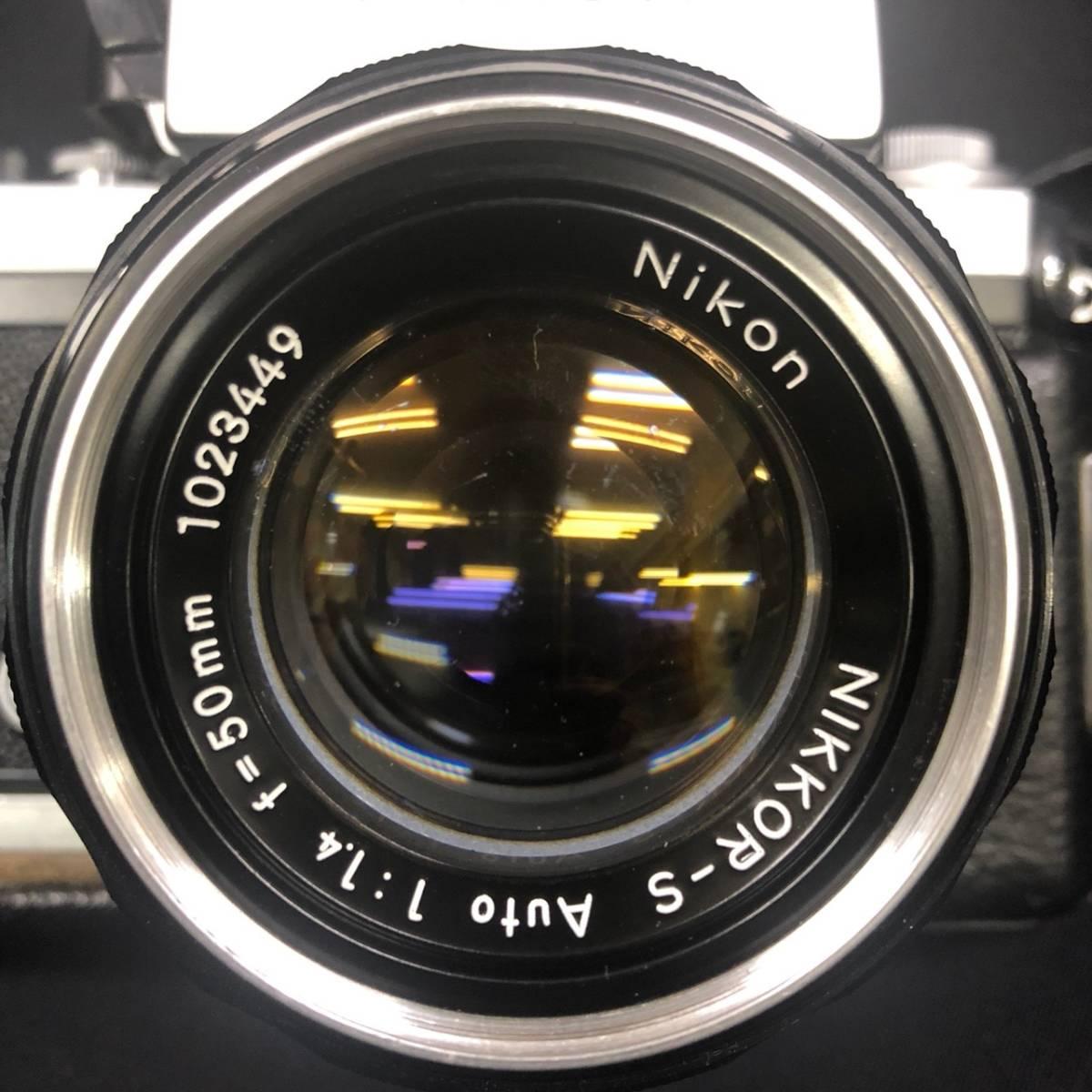 C20A01A Nikon F ニコン 一眼レフ カメラ レンズ 1:1.4 50mm ファインダー フォトミックファインダー _画像3