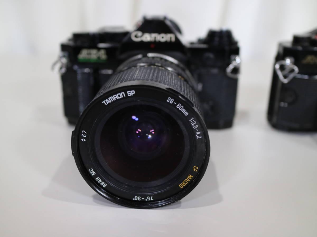 2台まとめて Canon キャノン 【 A-1・AE-1 】 28mmと28-80mm_画像3