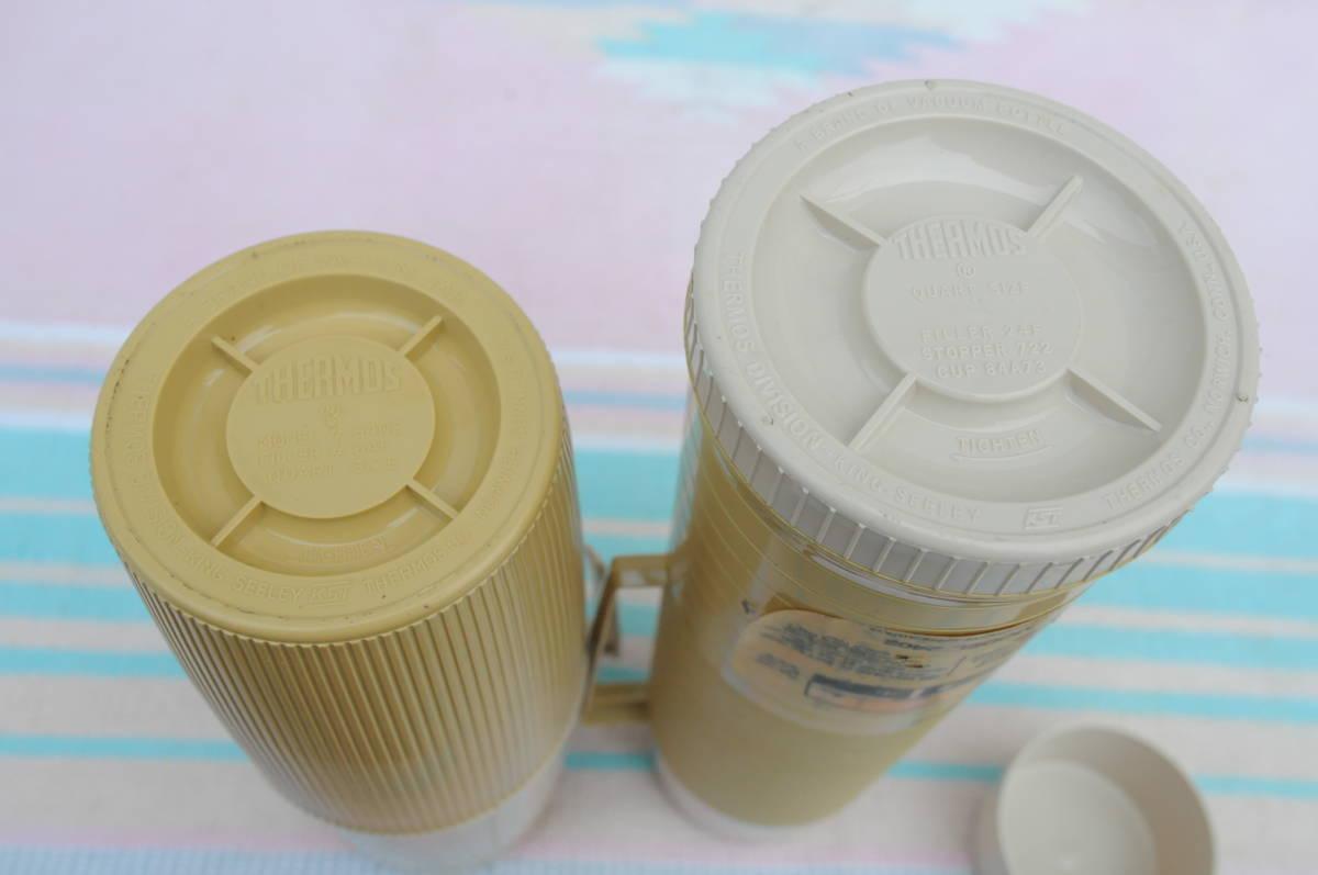 サーモス ピクニック セット 魔法瓶 MADE IN U.S.A. おしゃれキャンプ チェック バッグ_画像4