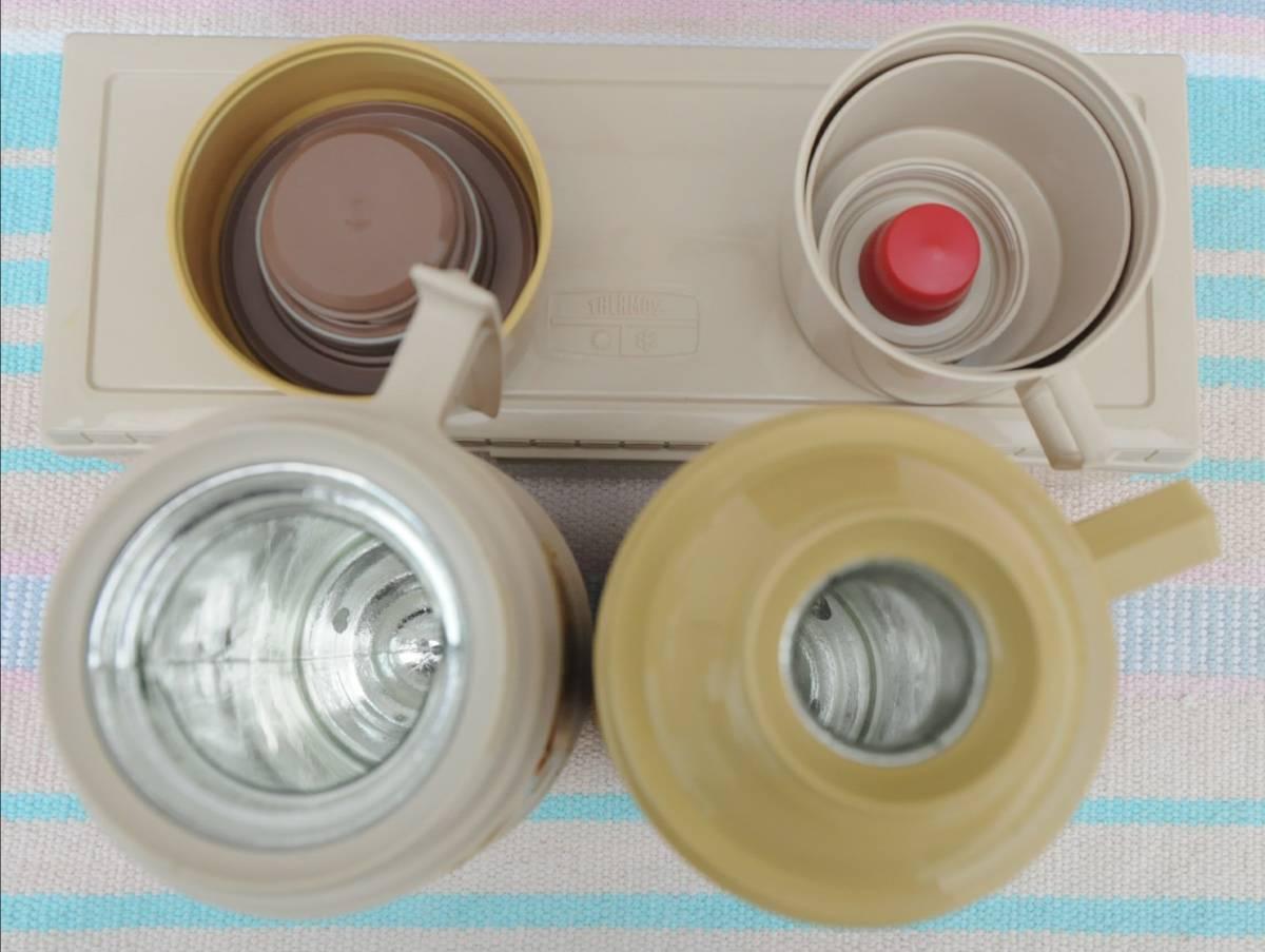 サーモス ピクニック セット 魔法瓶 MADE IN U.S.A. おしゃれキャンプ チェック バッグ_画像2