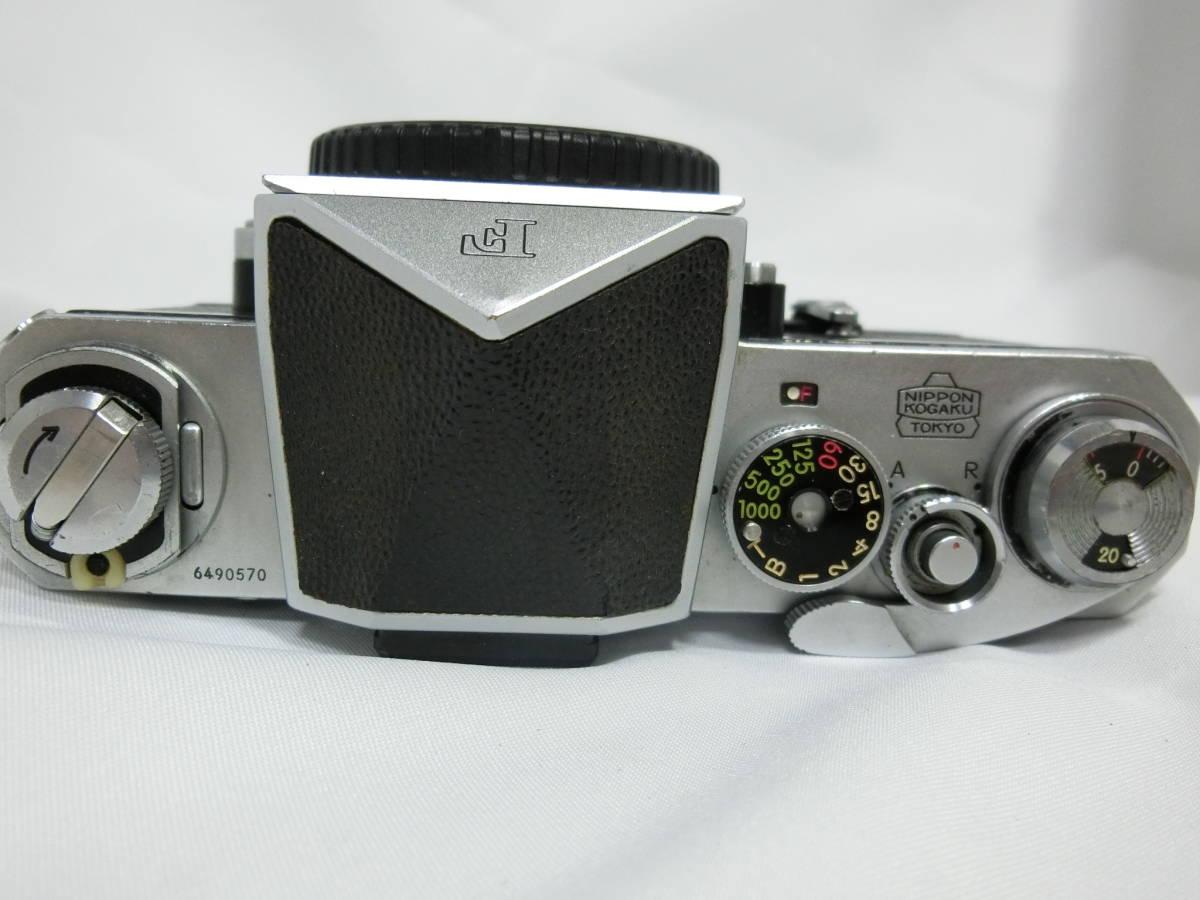 Nikon ニコン F アイレベル シルバー 中古美品_画像3