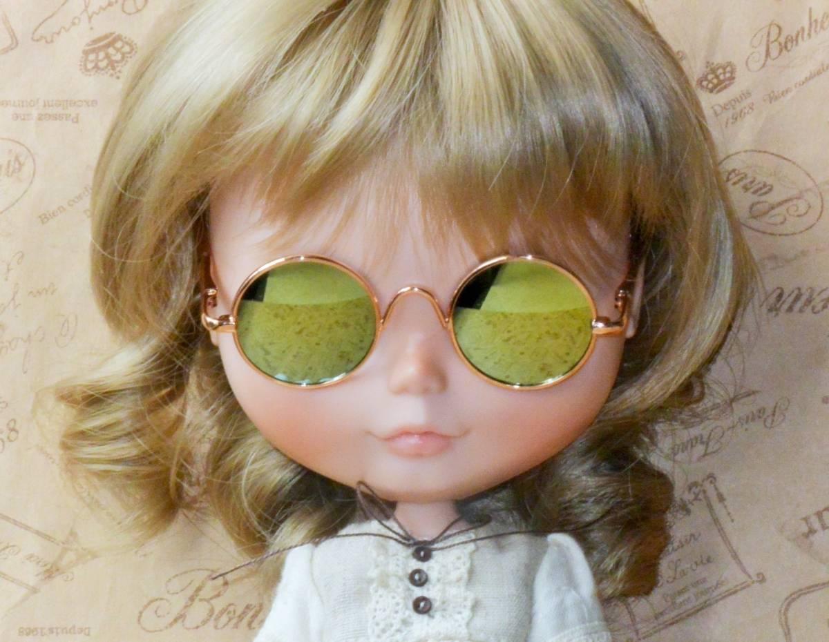 [サングラスのみ] ネオブライスサイズ レトロ 丸 メガネ 眼鏡_画像1