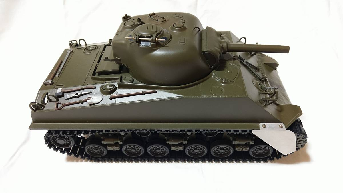 タミヤ 1/16 M4 シャーマン 電動RC 組み立て済 ジャンク アメリカ軍 大戦 タンク 1円スタート