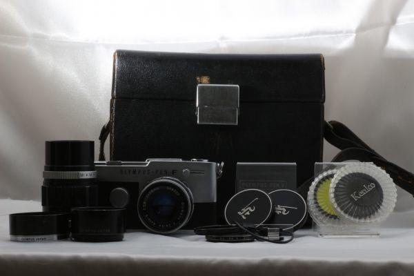 【実用品 】Olympus PEN FT Zuiko Auto-S 38mm f/1.8 100mm f/3.5 オリンパス レンズセット フィルムカメラ 180917-01