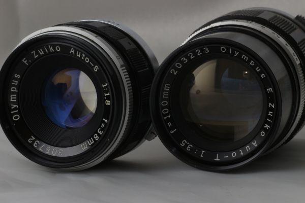 【実用品 】Olympus PEN FT Zuiko Auto-S 38mm f/1.8 100mm f/3.5 オリンパス レンズセット フィルムカメラ 180917-01_画像9