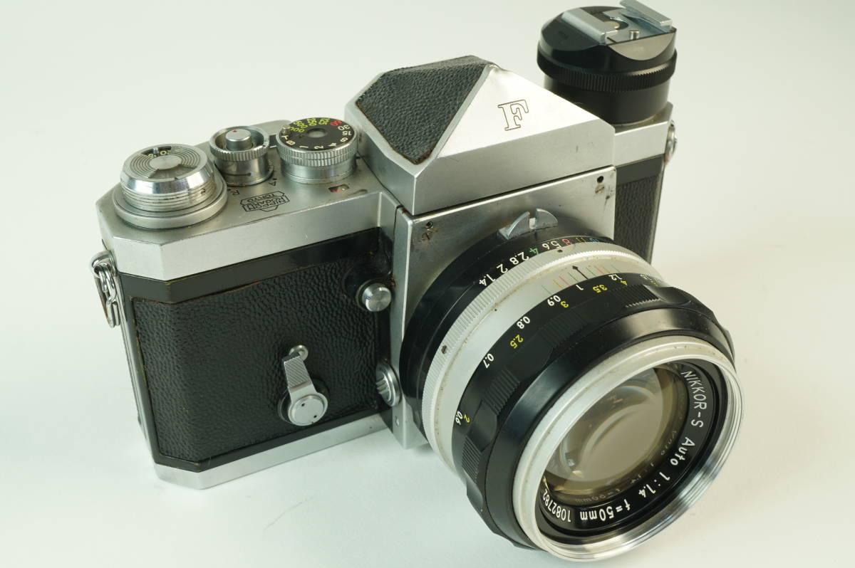 11◆ ニコン Nikon F アイレベル 640万台 レンズ セット NIKKOR-S Auto 50mm 1:1.4 ◆ 現状渡 未整備品 ◆ 特価スタート!_画像2