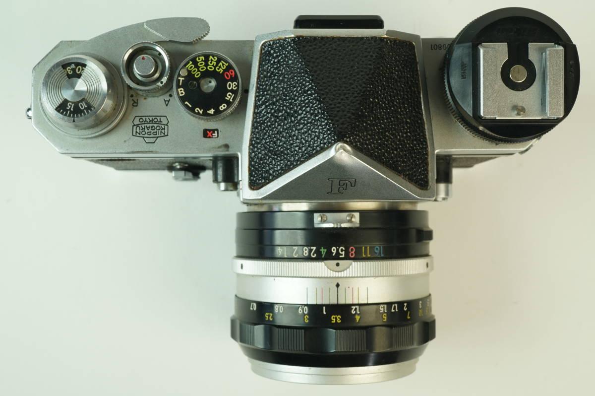11◆ ニコン Nikon F アイレベル 640万台 レンズ セット NIKKOR-S Auto 50mm 1:1.4 ◆ 現状渡 未整備品 ◆ 特価スタート!_画像3
