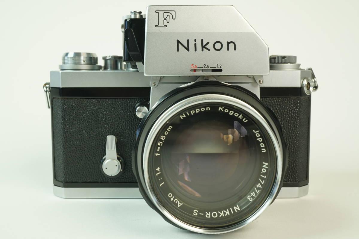 12◆ ニコン Nikon F Photomic フォトミック 724万台 ボディ レンズ セット NIKKOR-S Auto 58mm 1:1.4 ◆ 現状渡 未整備品 特価スタート!