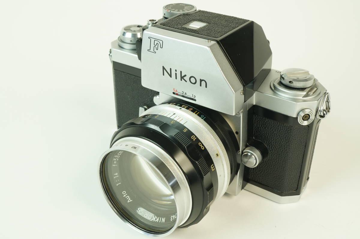 12◆ ニコン Nikon F Photomic フォトミック 724万台 ボディ レンズ セット NIKKOR-S Auto 58mm 1:1.4 ◆ 現状渡 未整備品 特価スタート!_画像2