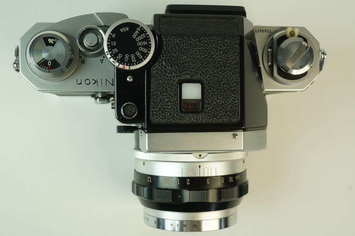 12◆ ニコン Nikon F Photomic フォトミック 724万台 ボディ レンズ セット NIKKOR-S Auto 58mm 1:1.4 ◆ 現状渡 未整備品 特価スタート!_画像4