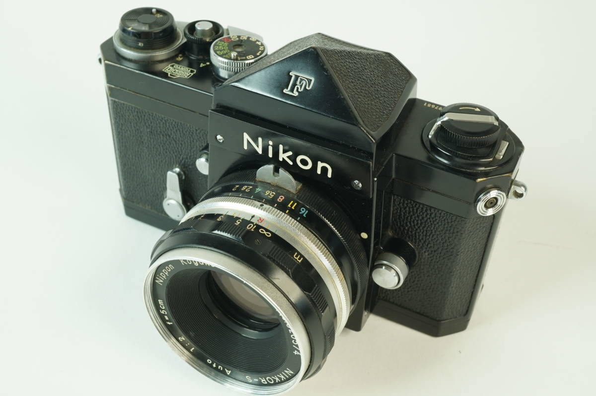 14◆ ニコン Nikon F アイレベル ブラック 659万台 ボディ レンズ セット NIKKOR-S Auto 50mm 1:2 ◆ 現状渡 未整備品 ◆ 特価スタート!_画像2