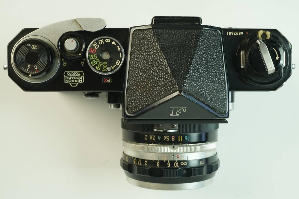 14◆ ニコン Nikon F アイレベル ブラック 659万台 ボディ レンズ セット NIKKOR-S Auto 50mm 1:2 ◆ 現状渡 未整備品 ◆ 特価スタート!_画像3