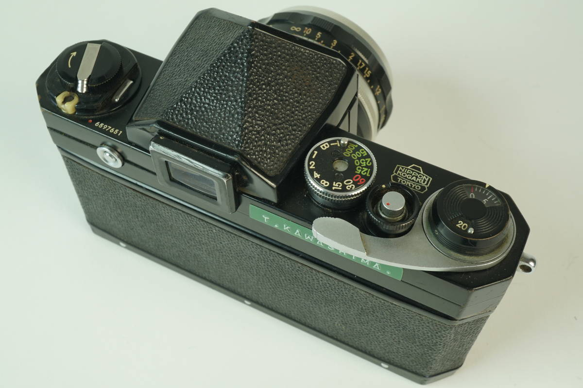 14◆ ニコン Nikon F アイレベル ブラック 659万台 ボディ レンズ セット NIKKOR-S Auto 50mm 1:2 ◆ 現状渡 未整備品 ◆ 特価スタート!_画像4