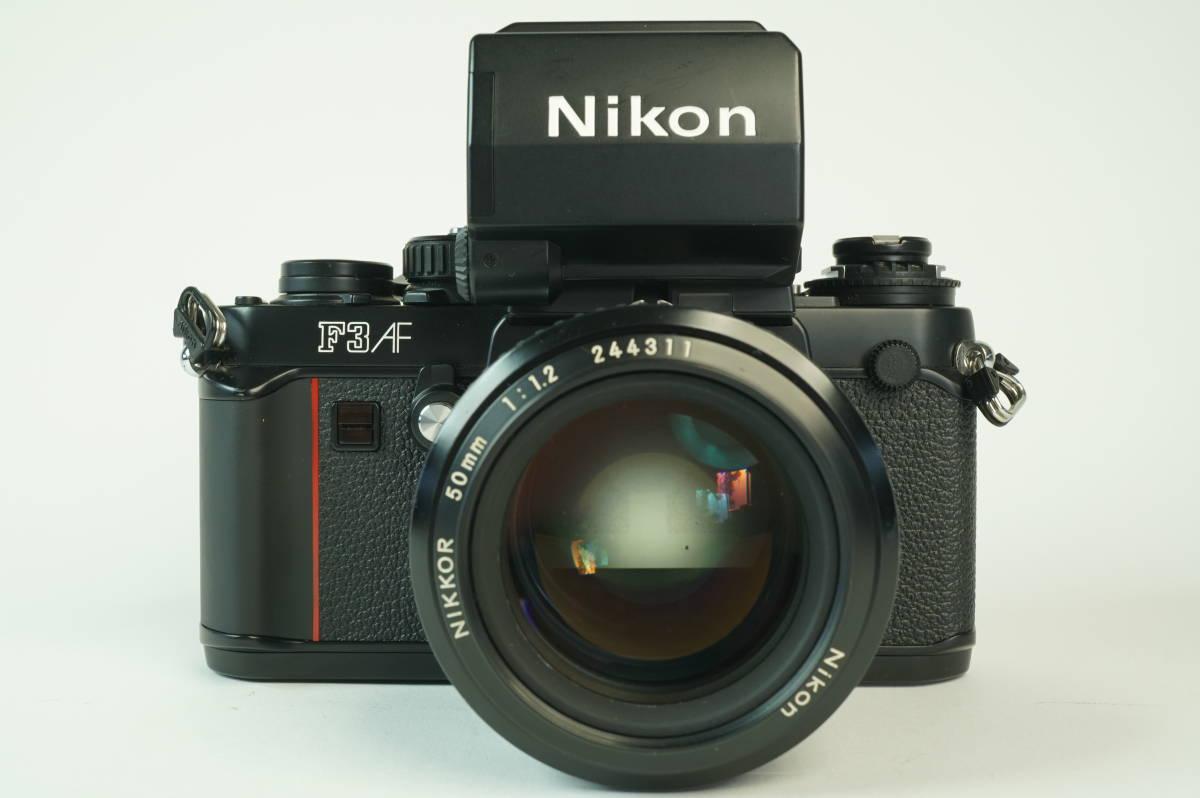 17◆ 名機 ニコン Nikon F3 AF 830万台 ボディ AF-FINDER DX-1 レンズ セット NIKKOR 50mm 1:1.2 ◆ 現状渡 未整備品 ◆ 特価スタート!