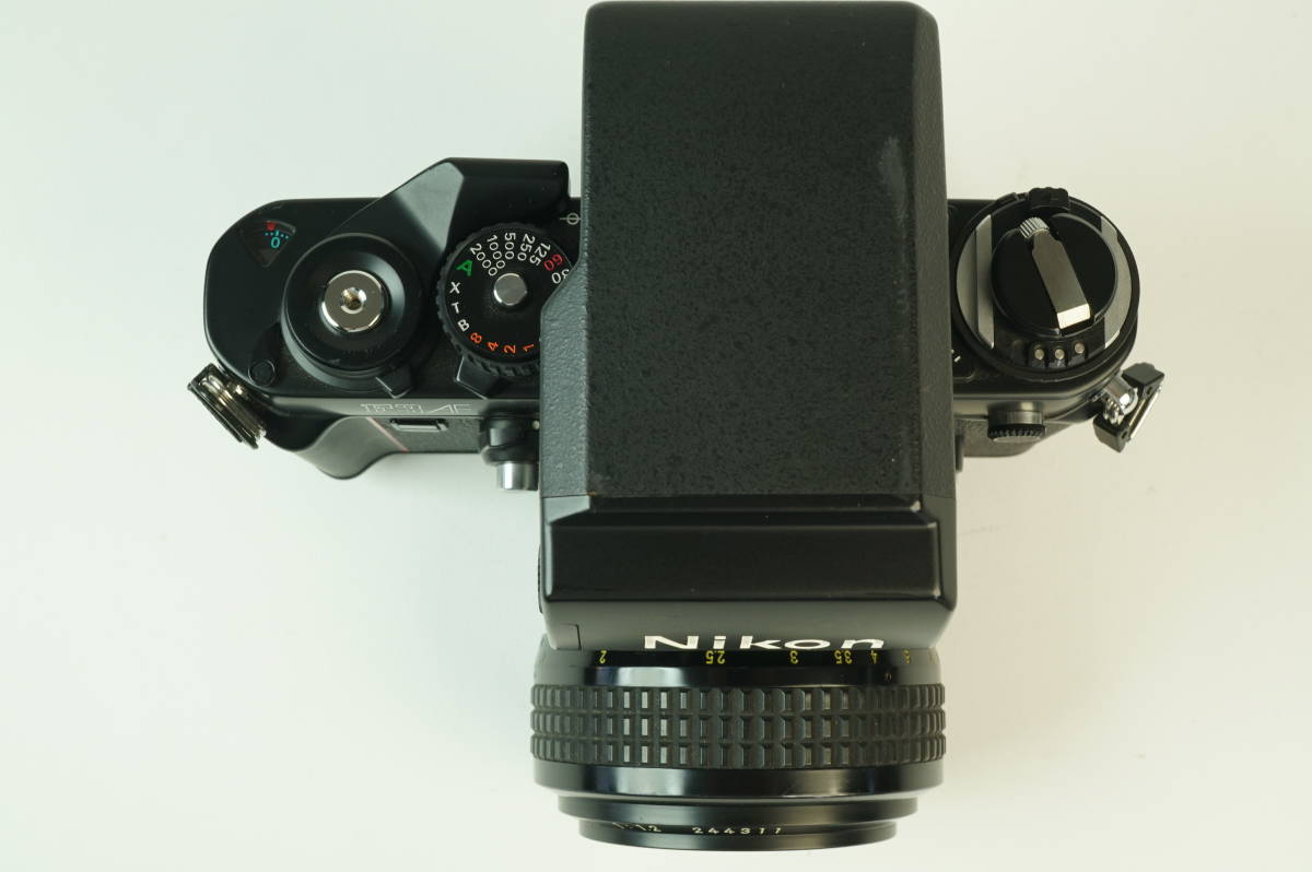 17◆ 名機 ニコン Nikon F3 AF 830万台 ボディ AF-FINDER DX-1 レンズ セット NIKKOR 50mm 1:1.2 ◆ 現状渡 未整備品 ◆ 特価スタート!_画像4