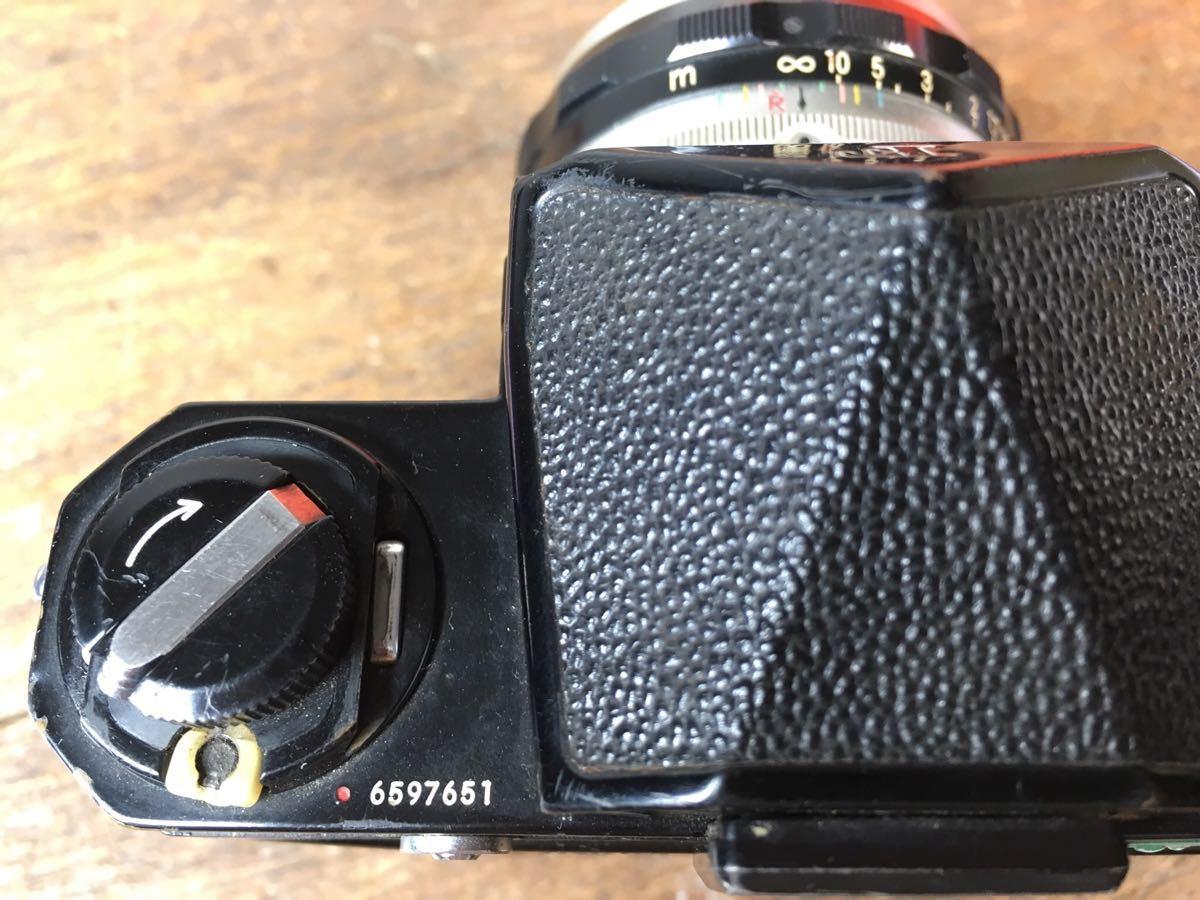 14◆ ニコン Nikon F アイレベル ブラック 659万台 ボディ レンズ セット NIKKOR-S Auto 50mm 1:2 ◆ 現状渡 未整備品 ◆ 特価スタート!_画像9